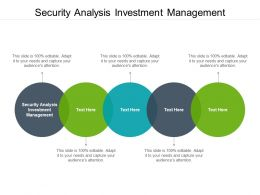 Security Analysis Investment Management Ppt Powerpoint Presentation Portfolio Summary Cpb