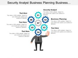 Security Analyst Business Planning Business Customer Satisfaction Survey Cpb