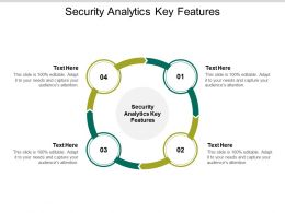 Security Analytics Key Features Ppt Powerpoint Presentation Outline Background Image Cpb