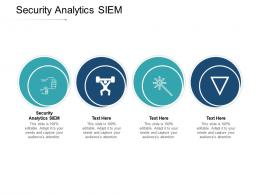 Security Analytics SIEM Ppt Powerpoint Presentation Ideas Picture Cpb