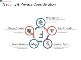 Security And Privacy Consideration Presentation Slides