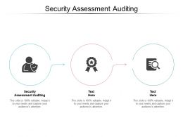 Security Assessment Auditing Ppt Powerpoint Presentation Summary Slide Download Cpb
