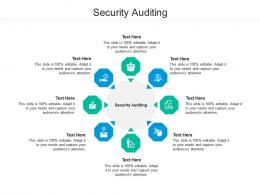 Security Auditing Ppt Powerpoint Presentation Layouts Layout Ideas Cpb
