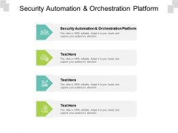 Security Automation And Orchestration Platform Ppt Powerpoint Presentation Layout Cpb