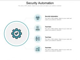 Security Automation Ppt Powerpoint Presentation Slides Template Cpb