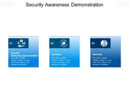 Security Awareness Demonstration Ppt Powerpoint Presentation Infographics Gallery Cpb