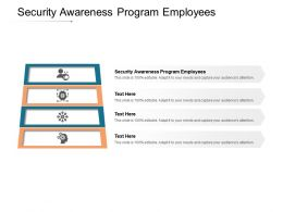Security Awareness Program Employees Ppt Powerpoint Presentation Show Brochure Cpb