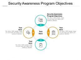 Security Awareness Program Objectives Ppt Powerpoint Presentation Gallery Aids Cpb