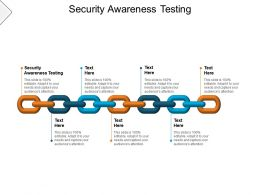 Security Awareness Testing Ppt Powerpoint Presentation Professional Structure Cpb