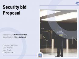 Security Bid Proposal Powerpoint Presentation Slides