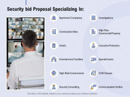 Security Bid Proposal Specializing In Ppt Powerpoint Presentation Professional Layout