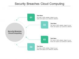 Security Breaches Cloud Computing Ppt Powerpoint Presentation Icon Vector Cpb