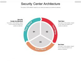 Security Center Architecture Ppt Powerpoint Presentation Model Slides Cpb