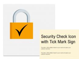 Security Check Icon With Tick Mark Sign