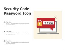 Security Code Password Icon