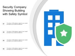 Security Company Showing Building With Safety Symbol