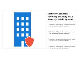 Security Company Showing Building With Security Shield Symbol