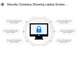 Security Company Showing Laptop Screen With Lock Symbol