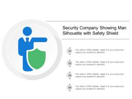 Security Company Showing Man Silhouette With Safety Shield