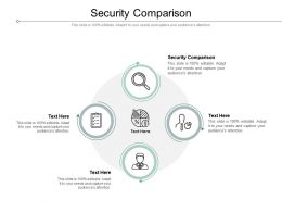 Security Comparison Ppt Powerpoint Presentation Ideas Infographics Cpb