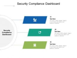 Security Compliance Dashboard Ppt Powerpoint Presentation Layouts Infographics Cpb