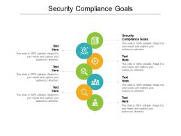Security Compliance Goals Ppt Powerpoint Presentation Model Graphics Download Cpb
