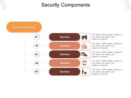 Security Components Ppt Powerpoint Presentation Summary Model Cpb