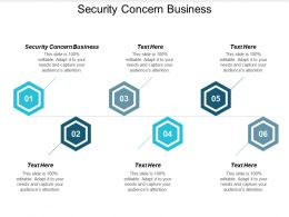 Security Concern Business Ppt Powerpoint Presentation Icon Templates Cpb