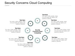 Security Concerns Cloud Computing Ppt Powerpoint Presentation Inspiration Cpb