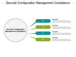 Security Configuration Management Compliance Ppt Powerpoint Presentation Gallery Cpb