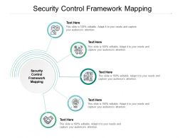 Security Control Framework Mapping Ppt Powerpoint Presentation Infographics Designs Cpb