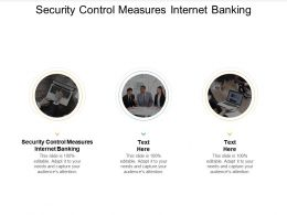 Security Control Measures Internet Banking Ppt Powerpoint Presentation Gallery Objects Cpb