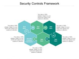Security Controls Framework Ppt Powerpoint Presentation File Graphics Example Cpb