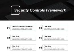 Security Controls Framework Ppt Powerpoint Presentation Slides Clipart Cpb