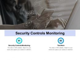 Security Controls Monitoring Ppt Powerpoint Presentation Infographic Template Gridlines Cpb
