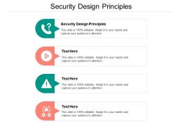 Security Design Principles Ppt Powerpoint Presentation Gallery Summary Cpb