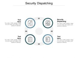 Security Dispatching Ppt Powerpoint Presentation Ideas Templates Cpb