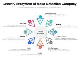 Security Ecosystem Of Fraud Detection Company