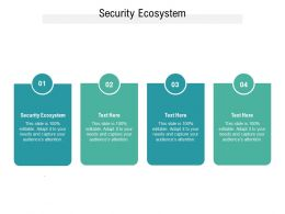 Security Ecosystem Ppt Powerpoint Presentation Visual Aids Infographics Cpb