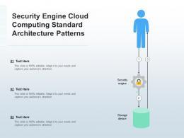 Security Engine Cloud Computing Standard Architecture Patterns Ppt Presentation Diagram