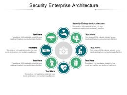 Security Enterprise Architecture Ppt Powerpoint Presentation Ideas Display Cpb