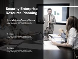 Security Enterprise Resource Planning Ppt Powerpoint Presentation Styles Template Cpb