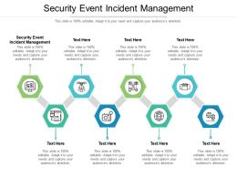 Security Event Incident Management Ppt Powerpoint Presentation Slides Smartart Cpb