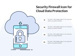 Security Firewall Icon For Cloud Data Protection