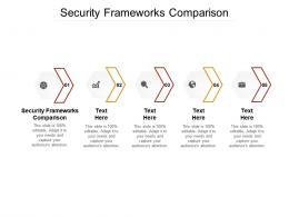 Security Frameworks Comparison Ppt Powerpoint Presentation Slides Guide Cpb