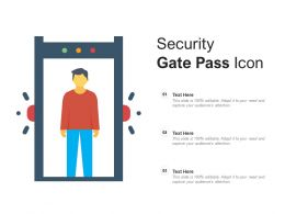 Security Gate Pass Icon