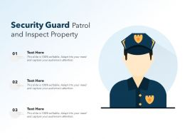 Security Guard Patrol And Inspect Property