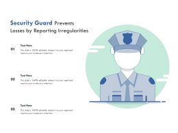 Security Guard Prevents Losses By Reporting Irregularities