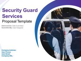 Security Guard Services Proposal Template Powerpoint Presentation Slides