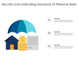 Security Icon Indicating Insurance Of Personal Asset